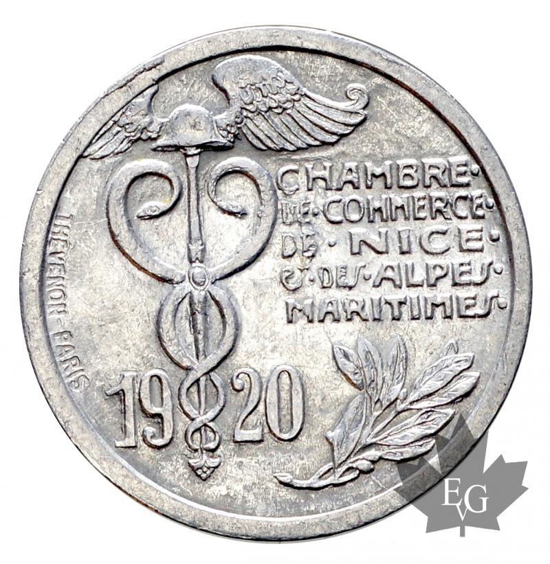 monaco chambre de commerce de nice 10 cent 1920 alu sup