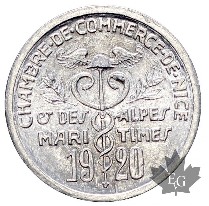 Monaco chambre de commerce de nice 5 cent 1920 alu fdc for Chambre de commerce monaco