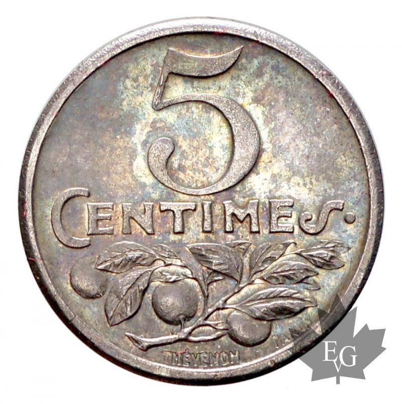 monaco chambre de commerce de nice 5 cent 1920 silver