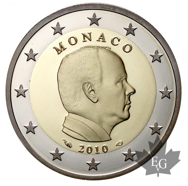 euro monaco 2010 2 euro commemorative. Black Bedroom Furniture Sets. Home Design Ideas
