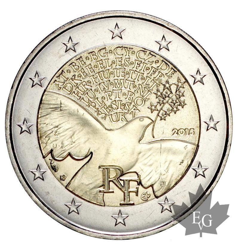 dd91cf60d2 Euro - FRANCE-2015-2 EURO COMMEMORATIVE-FDC