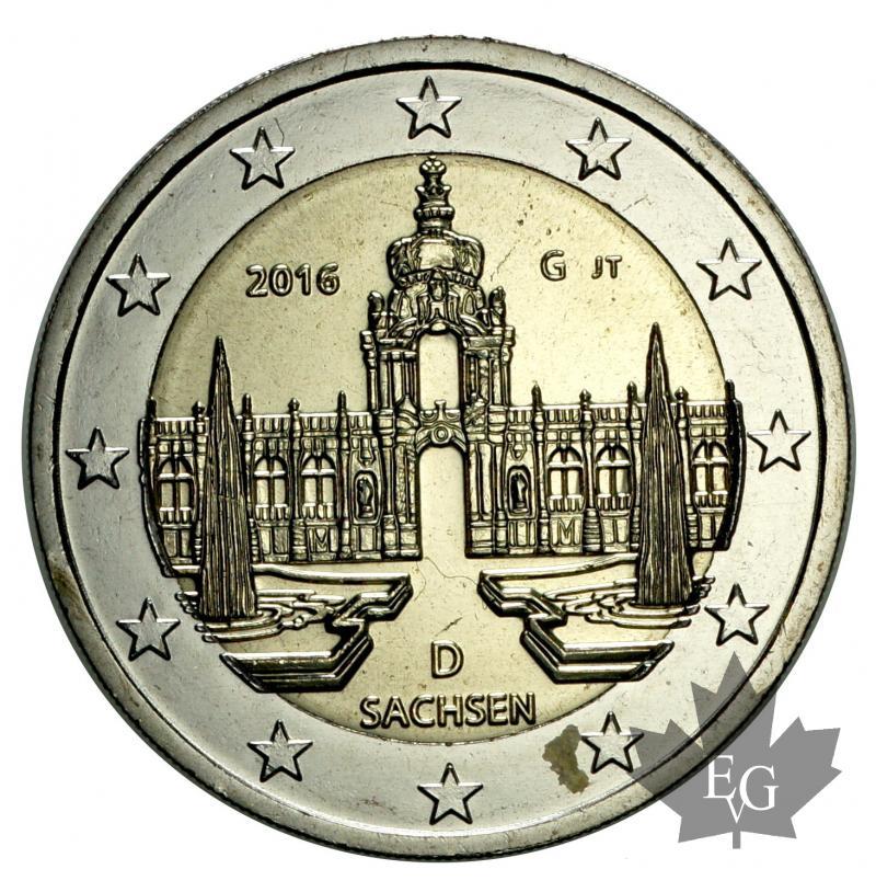 euro allemagne 2016g 2 euro sachsen. Black Bedroom Furniture Sets. Home Design Ideas