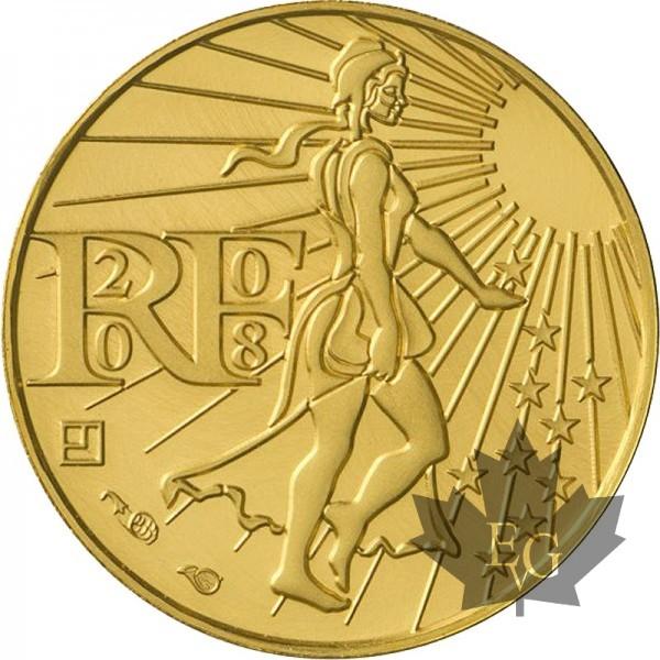 Euro France 2008 100 Euro Or Monnaie De Paris