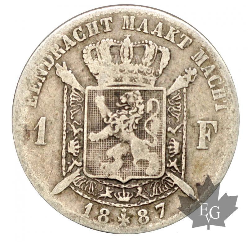 Silver Belgique 1 Franc Argent